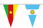 A string of World Cup 2014 bunting, triangular, 11.5 metre